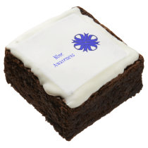 Blue Clover Ribbon by Kenneth Yoncich Chocolate Brownie