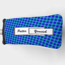 Blue Clover Ribbon by Kenneth Yoncich Golf Head Cover