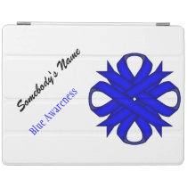 Blue Clover Ribbon by Kenneth Yoncich iPad Smart Cover