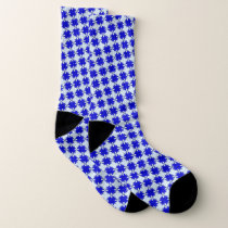 Blue Clover Ribbon by Kenneth Yoncich Socks