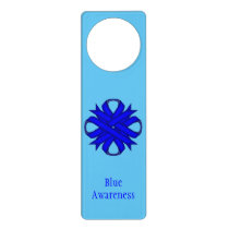 Blue Clover Ribbon Door Hanger