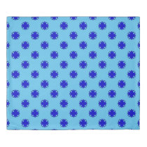 Blue Clover Ribbon Duvet Cover