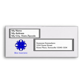 Blue Clover Ribbon Envelope