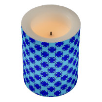 Blue Clover Ribbon Flameless Candle