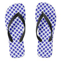 Blue Clover Ribbon Flip Flops