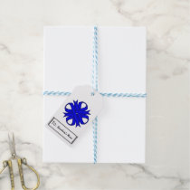 Blue Clover Ribbon Gift Tags