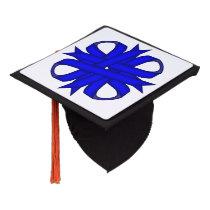 Blue Clover Ribbon Graduation Cap Topper