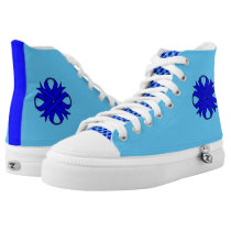 Blue Clover Ribbon High-Top Sneakers