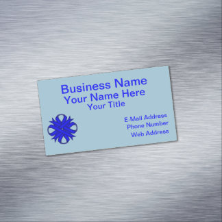 Blue Clover Ribbon Magnetic Business Card