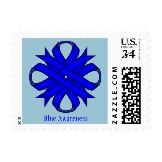 Blue Clover Ribbon Postage