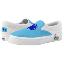 Blue Clover Ribbon Slip-On Sneakers