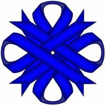 Blue Clover Ribbon Statuette