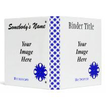 Blue Clover Ribbon Template 3 Ring Binder