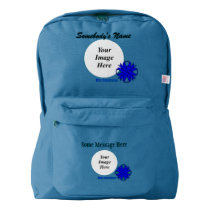 Blue Clover Ribbon Template American Apparel™ Backpack