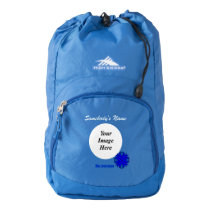 Blue Clover Ribbon Template Backpack