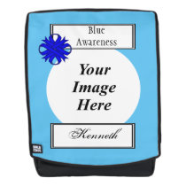 Blue Clover Ribbon Template by Kenneth Yoncich Backpack