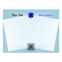 Blue Clover Ribbon Template by Kenneth Yoncich Flyer