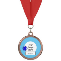 Blue Clover Ribbon Template by Kenneth Yoncich Medal