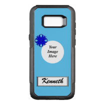 Blue Clover Ribbon Template by Kenneth Yoncich OtterBox Commuter Samsung Galaxy S8  Case