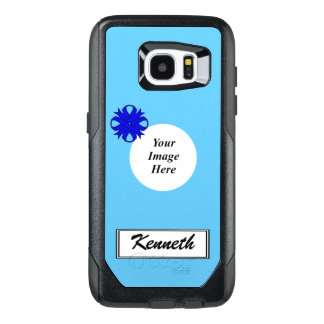 Blue Clover Ribbon Template by Kenneth Yoncich OtterBox Samsung Galaxy S7 Edge Case