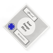 Blue Clover Ribbon Template by Kenneth Yoncich Paper Dinner Napkin