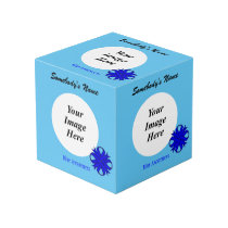 Blue Clover Ribbon Template Cube