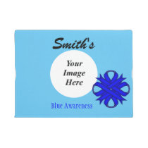 Blue Clover Ribbon Template Doormat