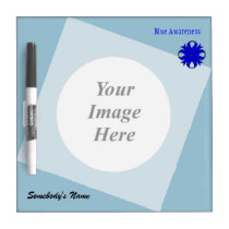 Blue Clover Ribbon Template Dry-Erase Board