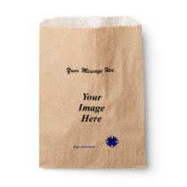 Blue Clover Ribbon Template Favor Bag