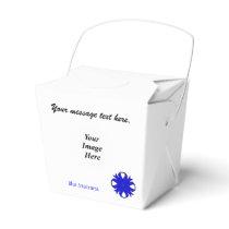 Blue Clover Ribbon Template Favor Box