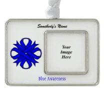 Blue Clover Ribbon Template (H-O) Ornament