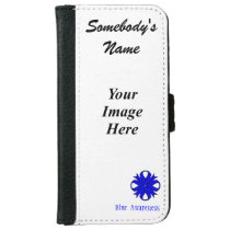 Blue Clover Ribbon Template iPhone 6/6s Wallet Case