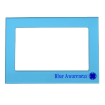 Blue Clover Ribbon Template Magnetic Picture Frame
