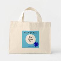 Blue Clover Ribbon Template Mini Tote Bag