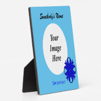 Blue Clover Ribbon Template Plaque