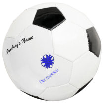 Blue Clover Ribbon Template Soccer Ball