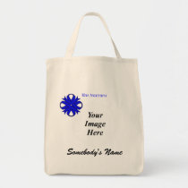 Blue Clover Ribbon Template Tote Bag