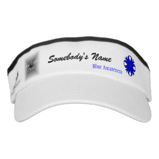Blue Clover Ribbon Template Visor