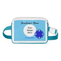 Blue Clover Ribbon Template Waist Bag