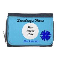 Blue Clover Ribbon Template Wallet