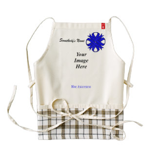 Blue Clover Ribbon Template Zazzle HEART Apron