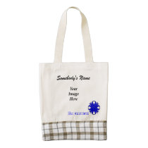 Blue Clover Ribbon Template Zazzle HEART Tote Bag