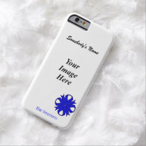 Blue Clover Ribbon Tmpl by Kenneth Yoncich Barely There iPhone 6 Case