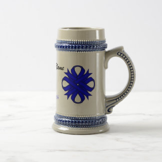 Blue Clover Ribbon Tmpl by Kenneth Yoncich Beer Stein