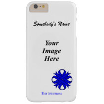 Blue Clover Ribbon Tmpl by Kenneth Yoncich Barely There iPhone 6 Plus Case