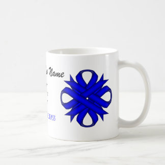 Blue Clover Ribbon Tmpl by Kenneth Yoncich Coffee Mug