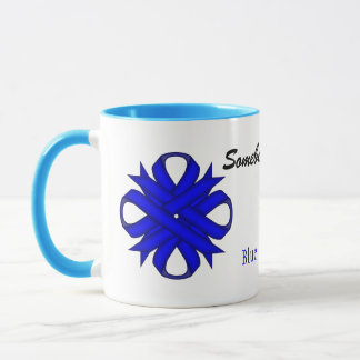 Blue Clover Ribbon Tmpl by Kenneth Yoncich Mug