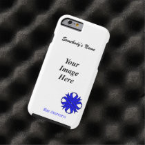 Blue Clover Ribbon Tmpl by Kenneth Yoncich Tough iPhone 6 Case
