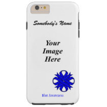 Blue Clover Ribbon Tmpl by Kenneth Yoncich Tough iPhone 6 Plus Case