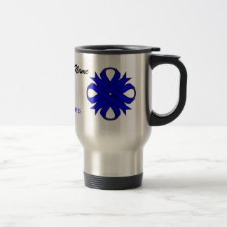 Blue Clover Ribbon Tmpl by Kenneth Yoncich Travel Mug